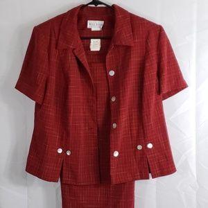 2 piece suit.